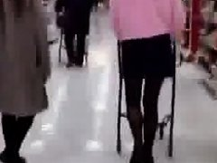 Asian woman at supermarket