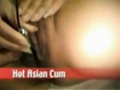 Asian Wife Vibing Clit to Orgasm