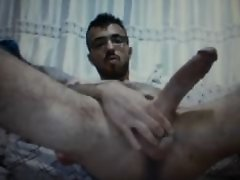 turkish guy jerking huge massive cock