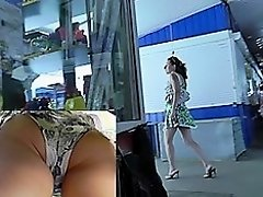 Accidental upskirts filmed in the public places