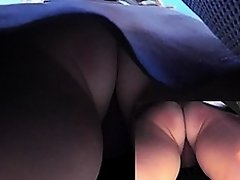 Exciting upskirt pussy pictures by brunette cutie